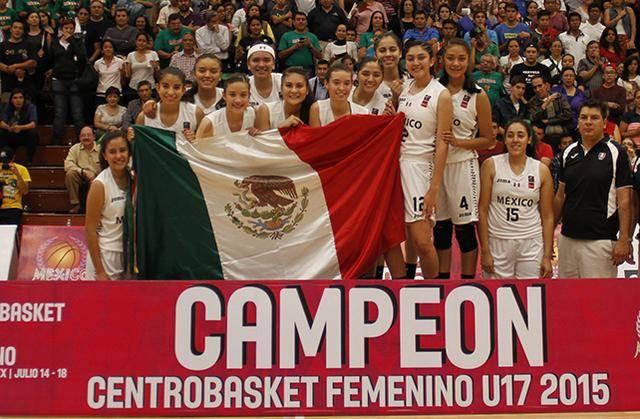 México campeon Centrobasket U17 Femenino 2015