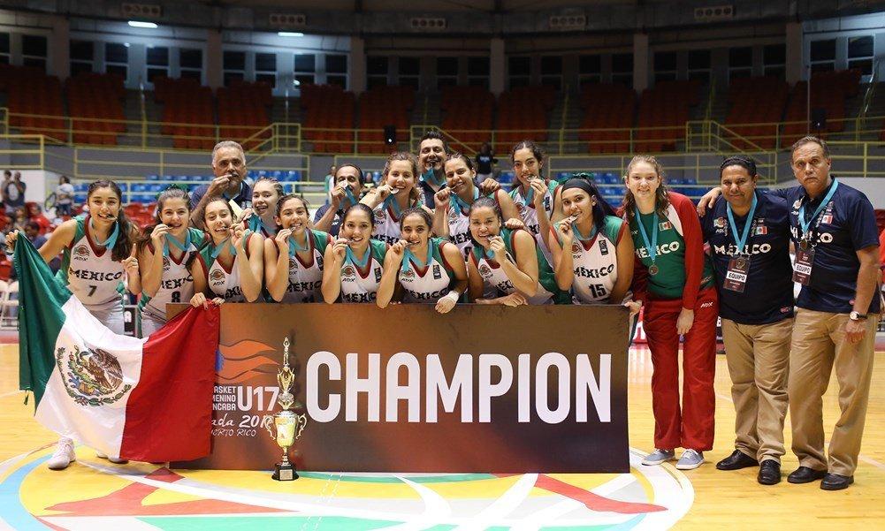 México campeon Centrobasket U17 Femenino 2017