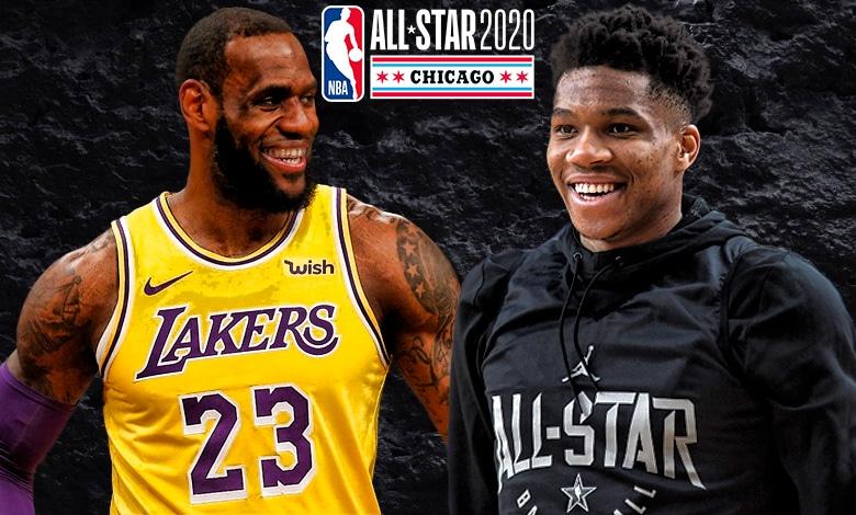 Juego de estrellas NBA 2020 LeBron James Giannis Antetokounmpo